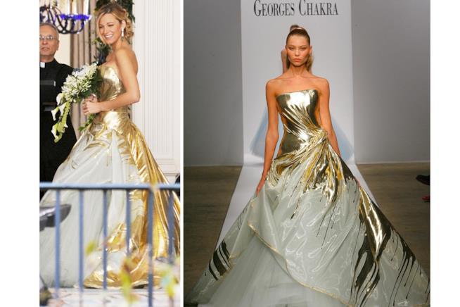 Il vestito di Georges Chakra indossato da Serena in Gossip Girl