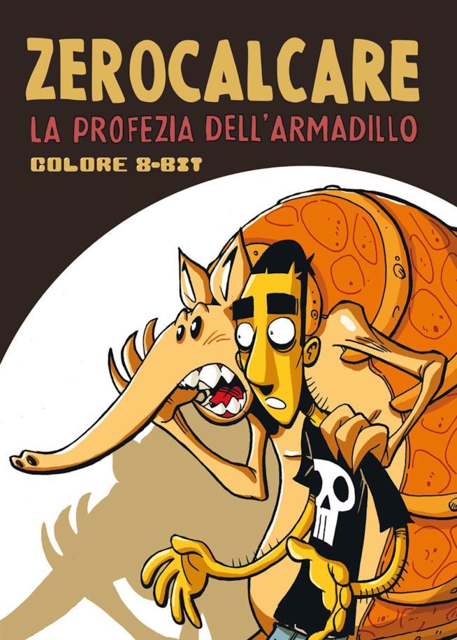 Copertina del fumetto con Zero e l'armadillo di spalle