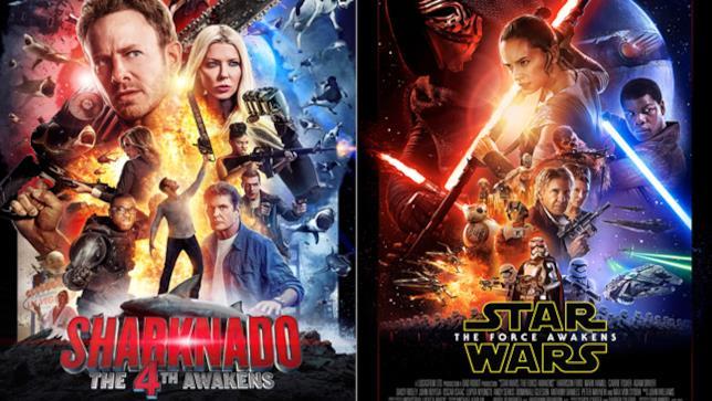 Poster di Sharknado 4 e Star Wars