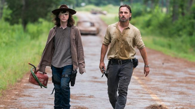 Carl e Rick in The Walking Dead