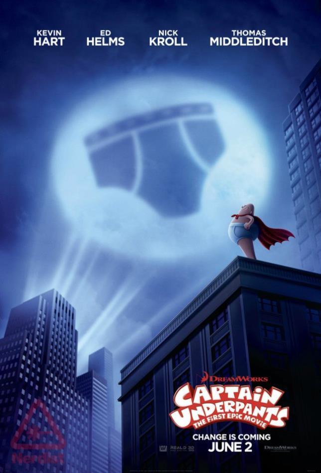 Il primo poster del film d'animazione dedicato a Capitan Mutanda