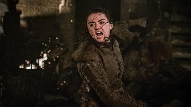 Un'immagine di Arya nell'episodio 8x03 di Game of Thrones