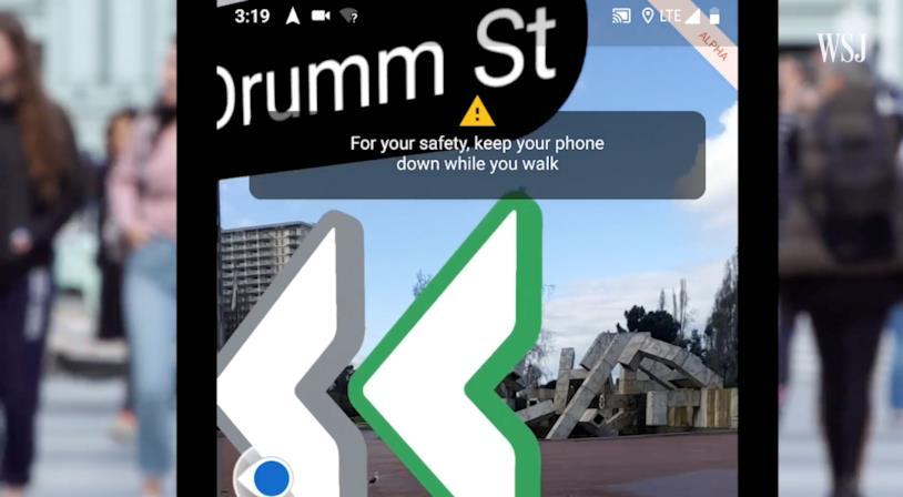 Il consiglio di Google per il corretto utilizzo di Maps in realtà aumentata