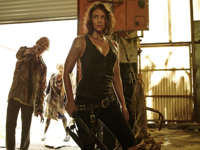 Lauren Cohan nei panni di Maggie in un'immagine promozionale della sesta stagione