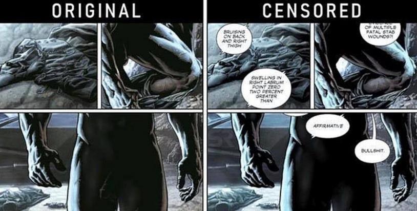 Pagine interne di Batman Damned #1 disegnate da Lee Bermejo, oggetto dello scandalo