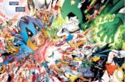 Tavola disegnata da Pérez estratta da Crisis on Infinite Earths