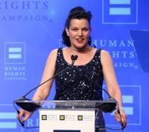 Pauley Perrette sorridente agli Human Rights Campaign 2016