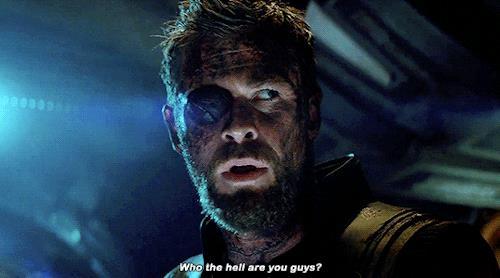 Thor si chiede chi siano i Guardiani della Galassia nel trailer di Infinity War