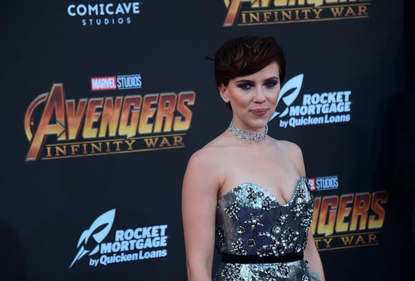 Scarlett Johansson alla premiere di Avengers: Infinity War