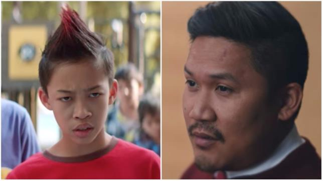 Il giovane Rufio del cortometraggio e Dante Basco