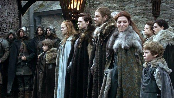 La famiglia Stark in Game of Thrones