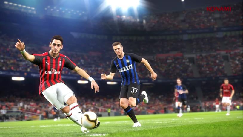 PES 2019, un'immagine di Milan e Inter