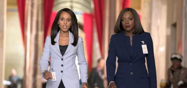 Una foto del crossover tra Scandal e le regole del delitto perfetto