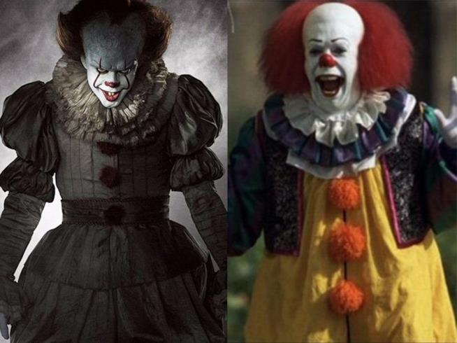 In foto Pennywise del 2017 e Pennywise del 1993