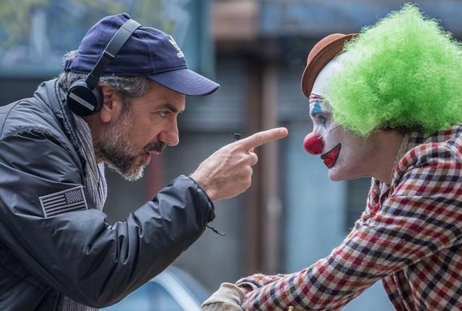 Todd Phillips e Joaquin Phoenix sul set di Joker