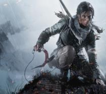 Lara Croft impugna il suo rampino in Shadow of the Tomb Raider