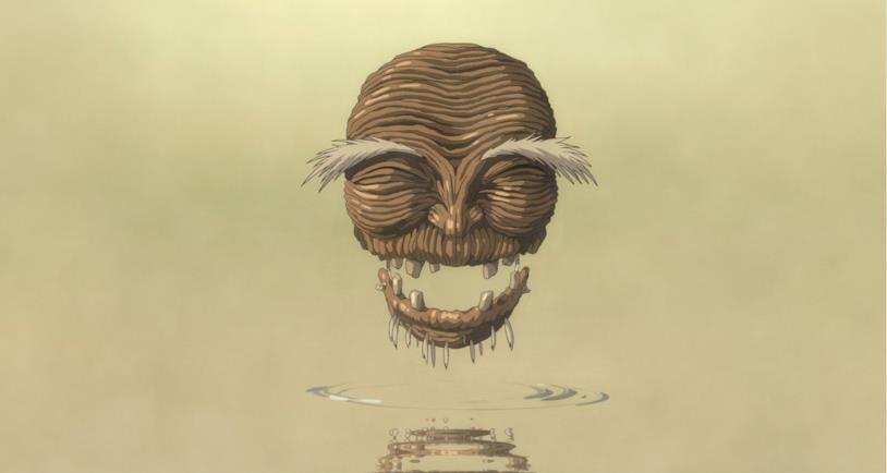 Lo spirito del fiume, libero dall'inquinamento, ringrazia Chihiro