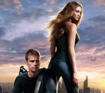 Una scena di Divergent con Shailene Woodley e Theo James