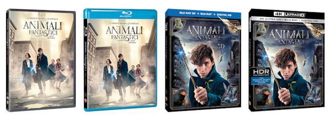 Cover delle versioni home video di Animali Fantastici e Dove Trovarli