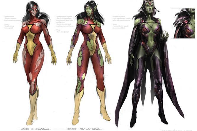 La Regina Veranke in una concept art del videogame Avengers