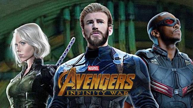 Team Cap in concept art di Avengers: Infinity War
