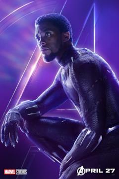 Il poster del personaggio di Black Panter
