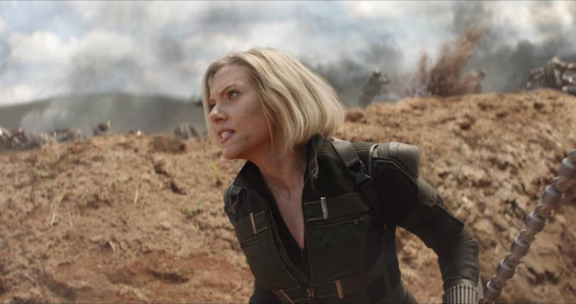 Scarlett Johansson nei panni di Vedova Nera in Avengers: Infinity War