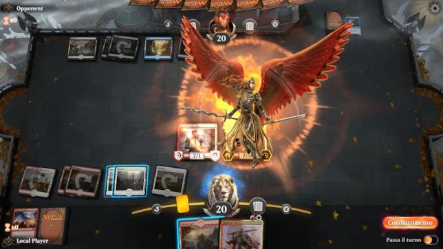 Uno screenshot di una partita di Magic: The Gathering Arena