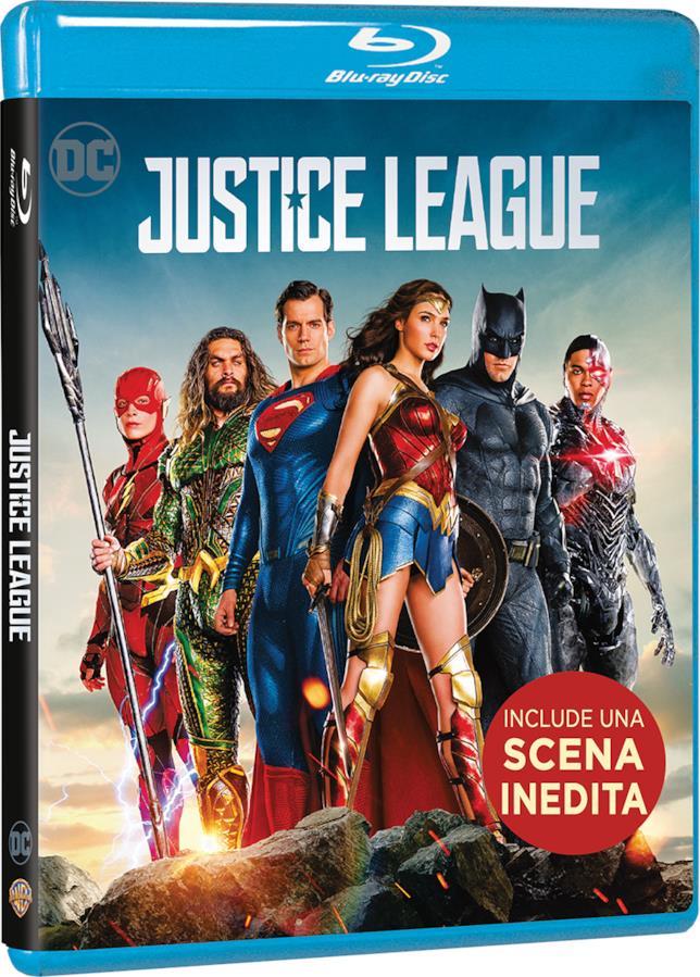 Packshot di Justice League in Blu-ray