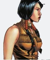 Il mutante Cheyenne Danielle Moonstar in un'illustrazione Marvel