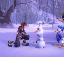 I protagonisti di Kingdom Hearts 3 e Olaf