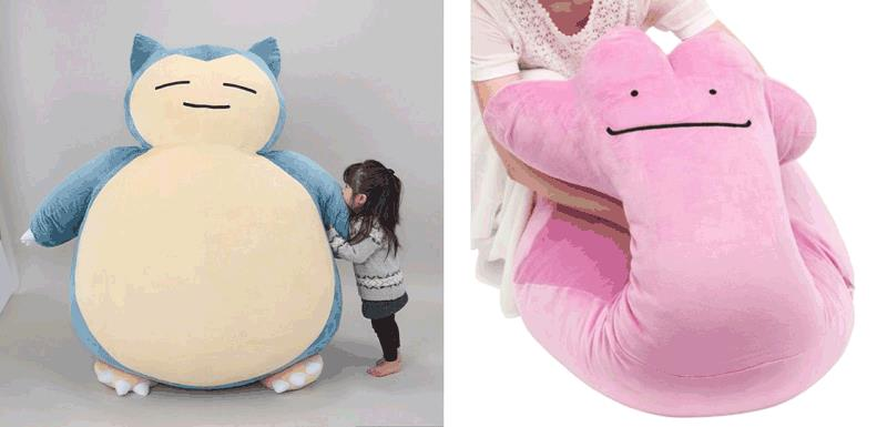 I cuscini Pokémon ispirati a Snorlax e Ditto