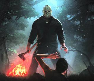 Un concept art del videogioco dedicato a Venerdì 13