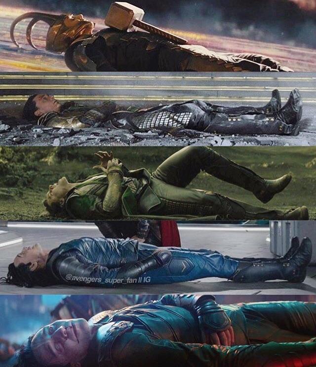L'immagine che mostra il personaggio di Loki inquadrato sempre alla stessa maniera