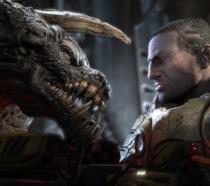 Uomo contro bestia in uno screen di Quake 4