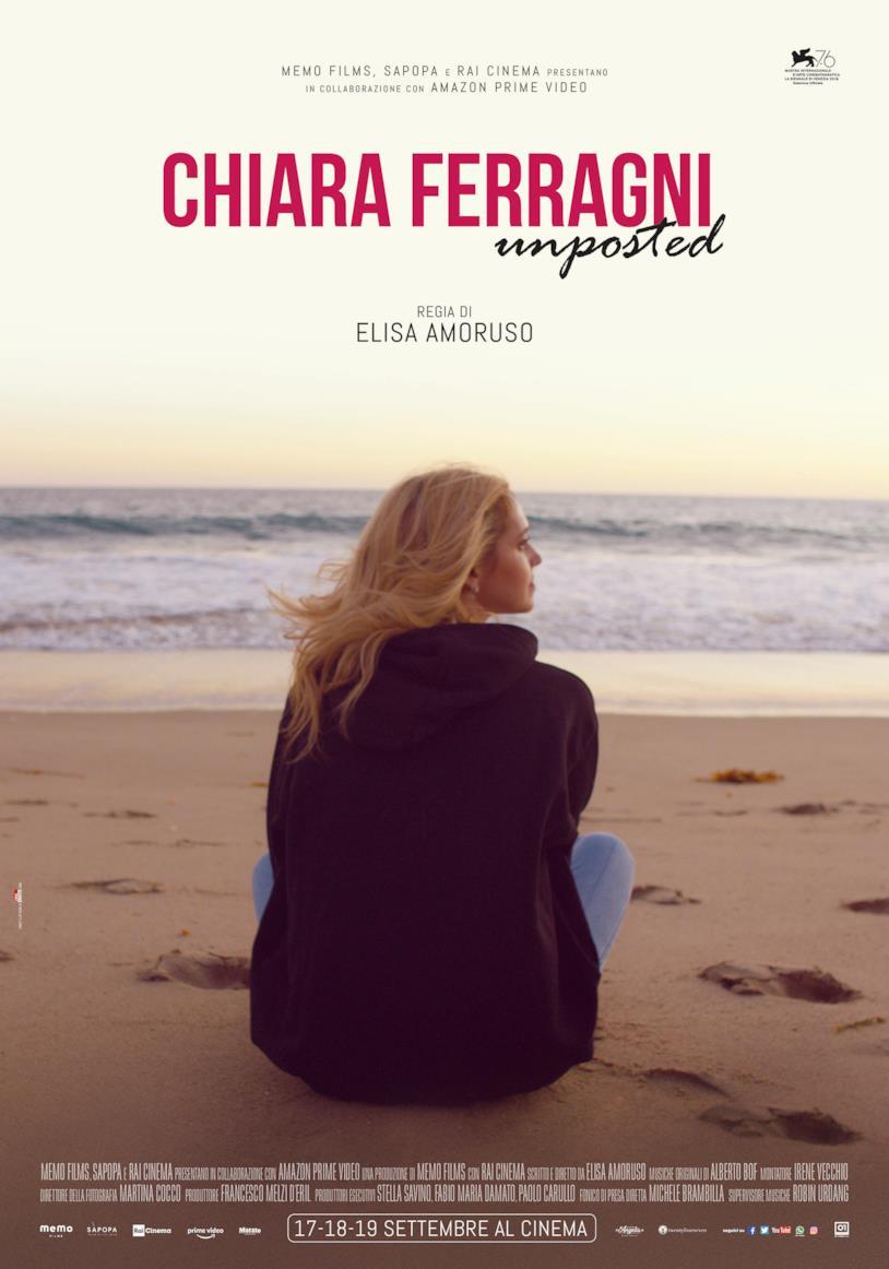 La locandina del documentario Chiara Ferragni Unposted