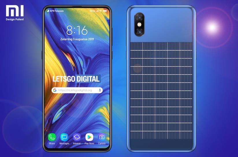 Concept dello smartphone di Xiaomi con pannello solare