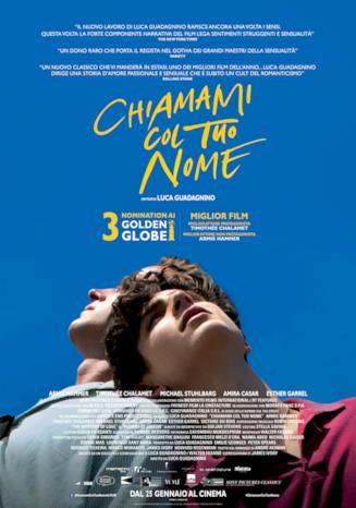 Il poster italiano di Chiamami col tuo Nome di Luca Guadagnino
