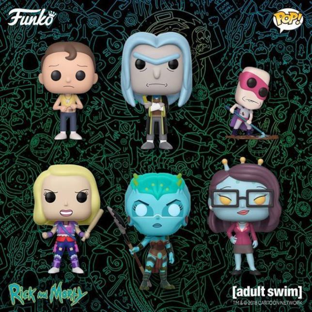 In primo piano i nuovi Funko di Rick e Morty