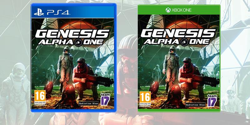 La boxart dell'edizione fisica di Genesis Alpha One