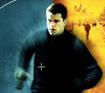 Matt Damon nel poster del film The Bourne Identity