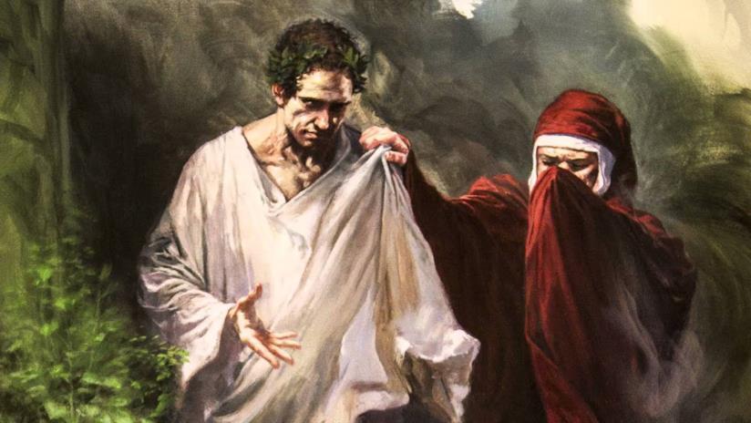 Virgilio e Dante nell'illustrazione di Gabriele Dell'Otto