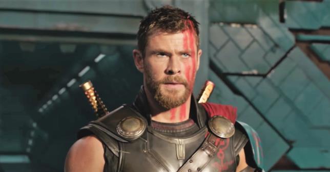 Thor in una scena di Thor: Ragnarock