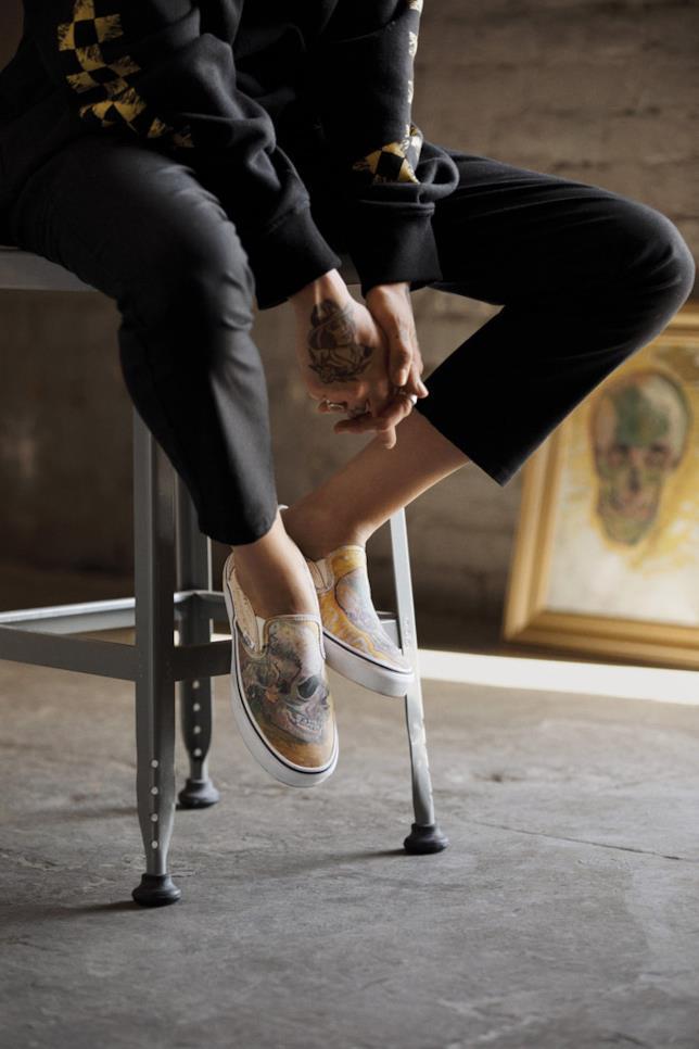 Vans x Van Gogh: dettagli su uno dei modelli di scarpe della linea dedicata all'artista olandese