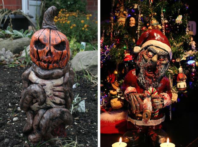 I nani zombie sono perfetti acneh a Halloween e Natale