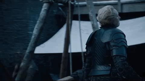 Brienne e Tormund nella 7x01