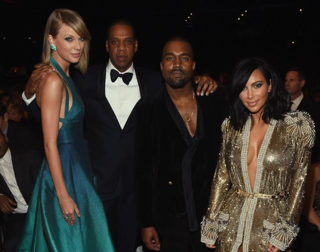 Foto di Taylor Swift con Kanye West e Kim Kardashian