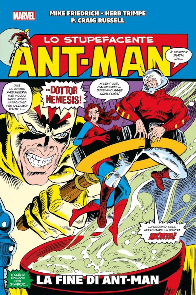 La copertina del volume La fine di Ant-Man