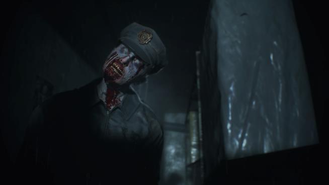 Uno zombie nel remake di RE2
