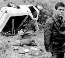 Mel Gibson sul set del primo film della saga girato in Australia